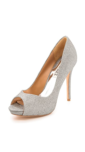 Badgley Mischka Kassidy II Peep Toe Pumps