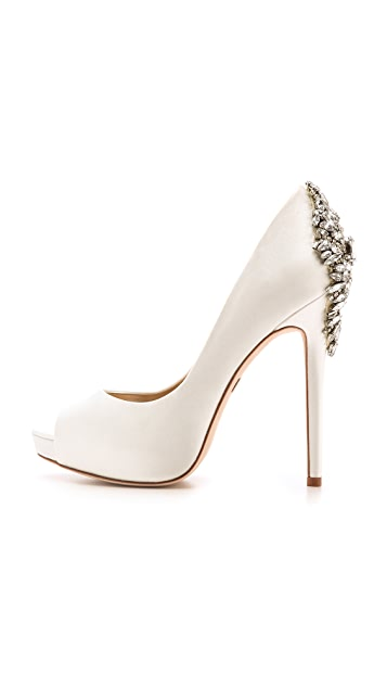 Badgley Mischka Kiara Open Toe Pumps