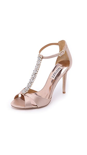 Badgley Mischka Radiant T Strap Sandals