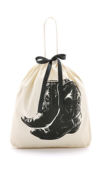 Bag-all Cowboy Boot Organizing Bag - Natural/Black