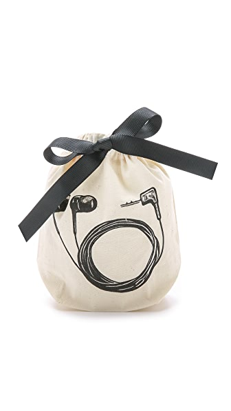Bag-all Earbud Small Organizing Bag - Natural/Black
