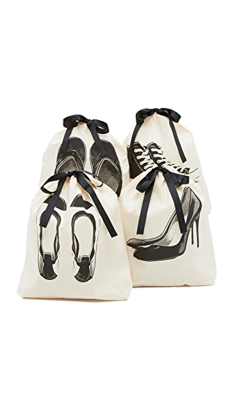 Bag-all Shoe Organizing Bag Set - Natural Black