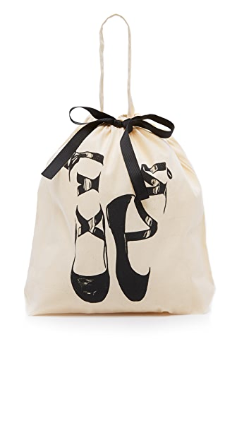 Bag-all Pointe Ballerina Organizing Bag - Natural/Black