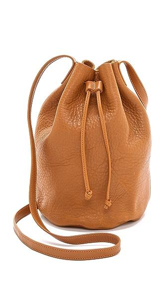 BAGGU Drawstring Bucket Bag - Caramel