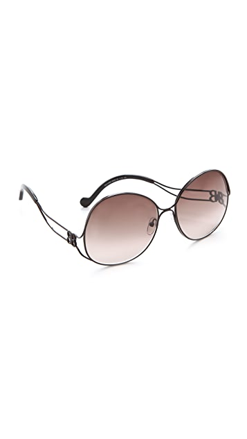 Balenciaga Oversized Metal Sunglasses
