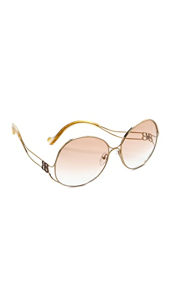 Balenciaga Oversized Metal Sunglasses
