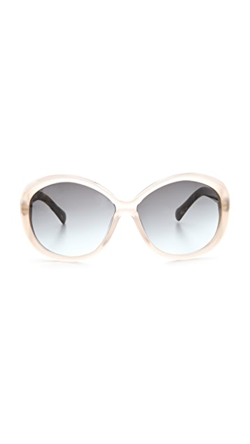 Balenciaga Easy Oval Plastic Sunglasses