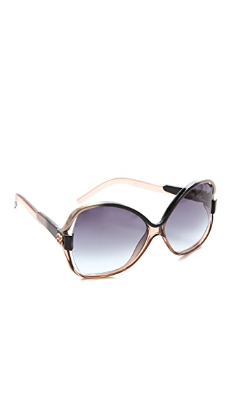 Balenciaga Oversized Glam Plastic Sunglasses