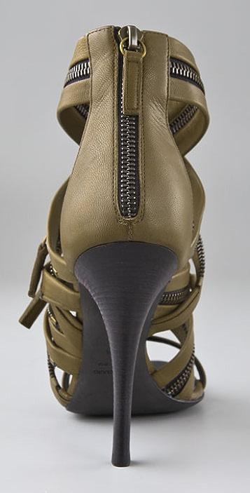 Balmain Giuseppe Zanotti for Balmain Zipper Sandals