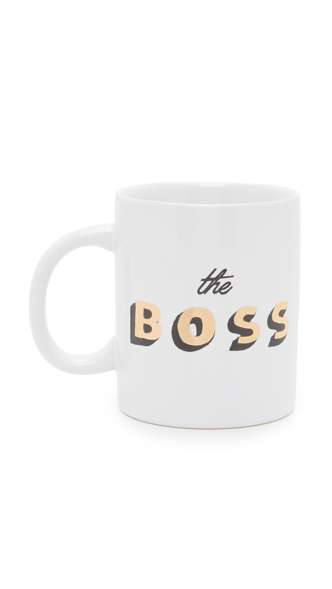 ban. do The Boss Hot Stuff Ceramic Mug - White/Gold