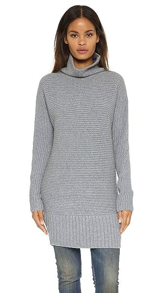 Banjo & Matilda Horizontal Rib Tunic Sweater - Grey