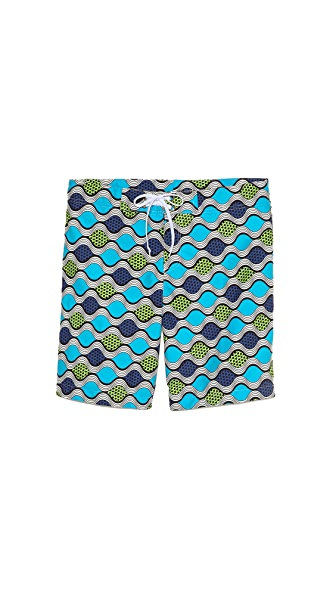 Bantu Wavy Long Board Shorts
