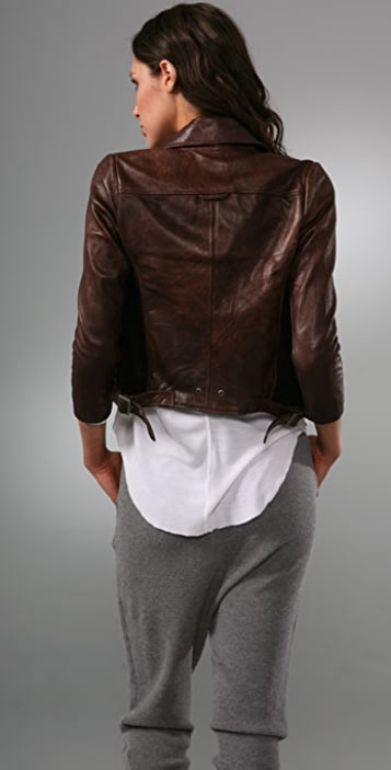 BARLOW Leather Moto Jacket