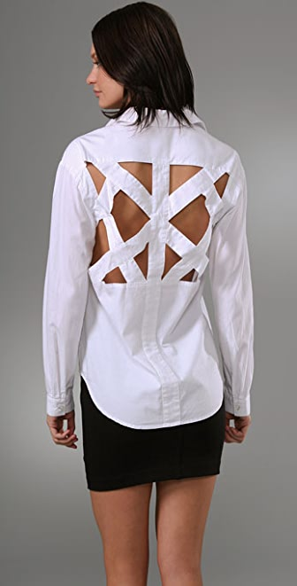 BARLOW Lattice Back Shirt
