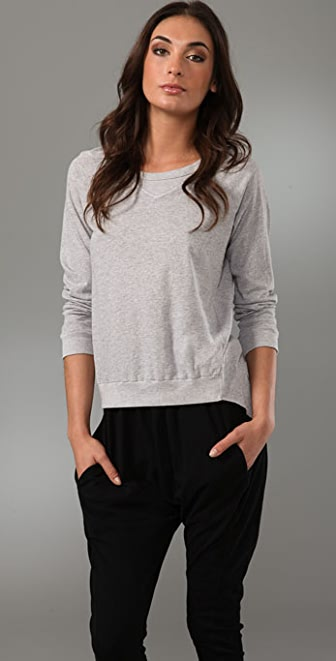 Bassike Crew Neck Tee with Tail