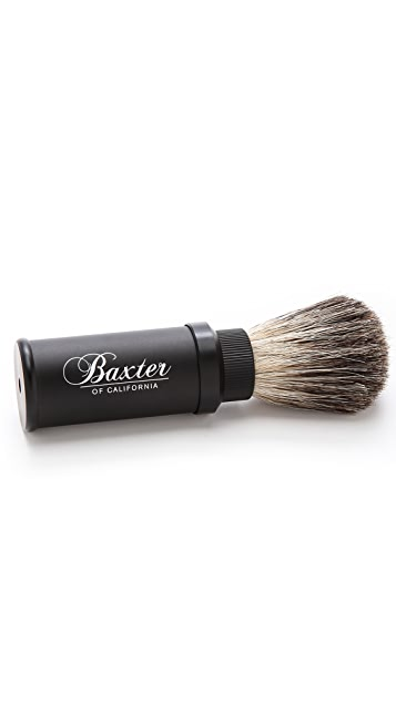 Baxter of California Aluminum Travel Shave Brush