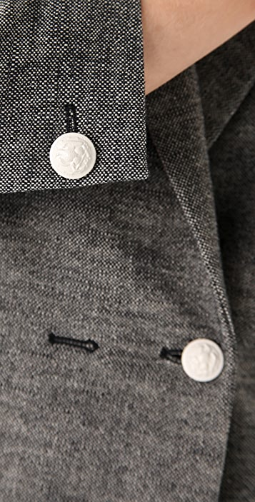 Band of Outsiders Shrunken Double Breasted Jacket