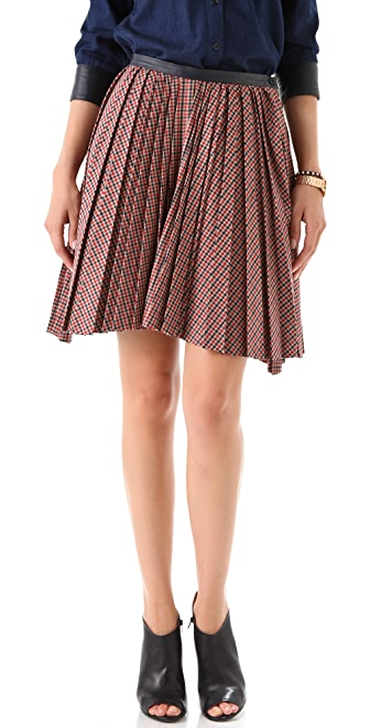 Band of Outsiders Pleated Skirt