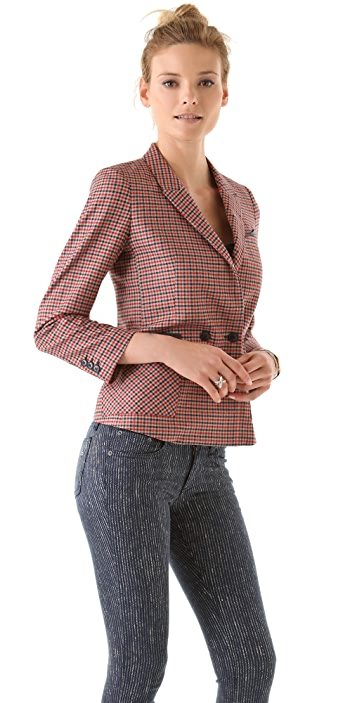 Band of Outsiders Double Breasted Peak Lapel Jacket