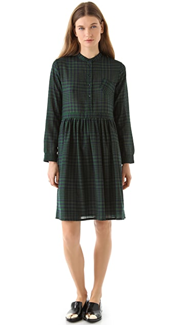 Band of Outsiders Baby Doll Collarless Dress
