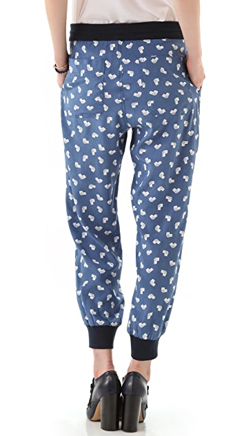 Band of Outsiders Slouchy Pants with Rib
