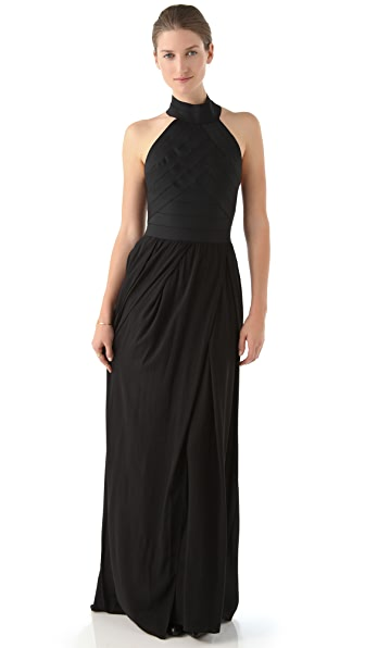 Band of Outsiders Mock Neck Maxi Dress