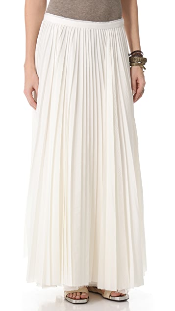 Band of Outsiders Long Pleated Skirt