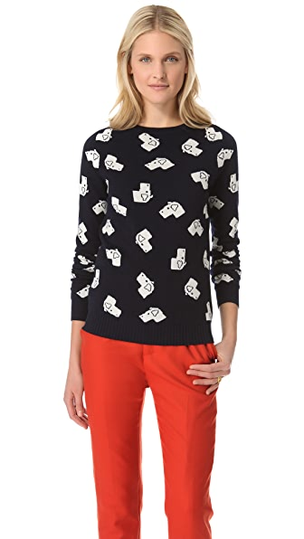 Band of Outsiders Intarsia Dog Sweater