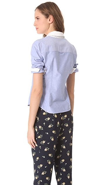 Band of Outsiders Cropped Shirt