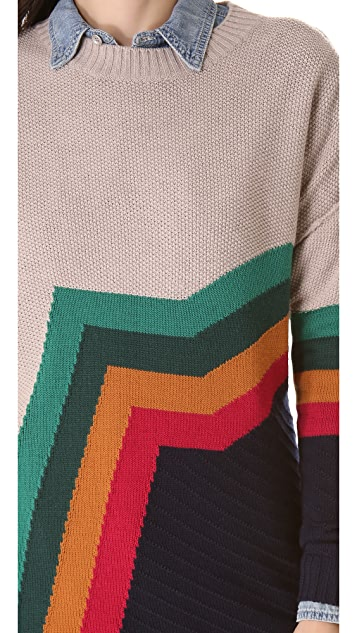 Band of Outsiders Aztec Stripe Sweater