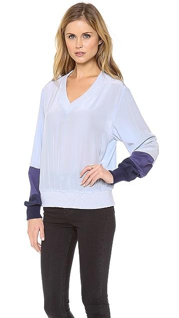 Band of Outsiders Tonal Silk Sweatshirt