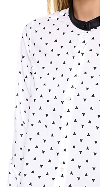 Band of Outsiders Atari Shirt with Stand Collar