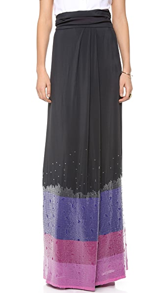 Band of Outsiders Long Sequined Skirt