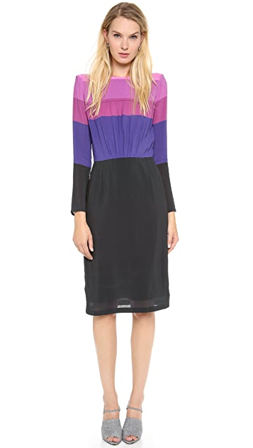 Band of Outsiders Shirred Bodice Dress
