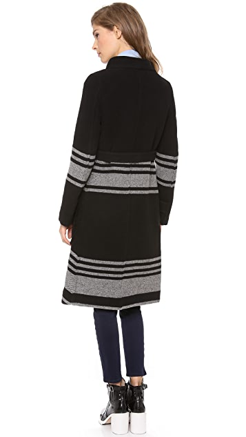 Band of Outsiders Blanket Stripe Coat