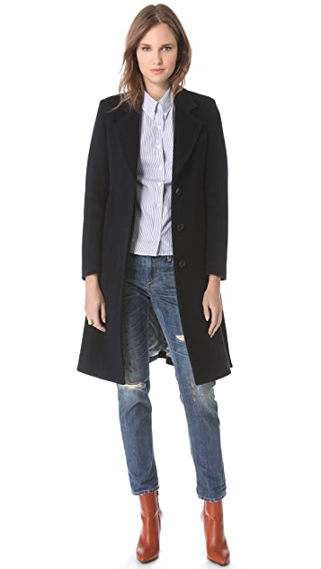 Band of Outsiders Soft Coat with Belt