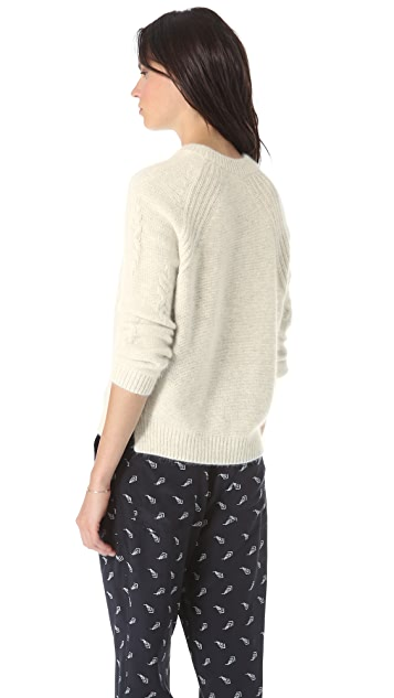 Band of Outsiders Cash Cable Knit Pullover