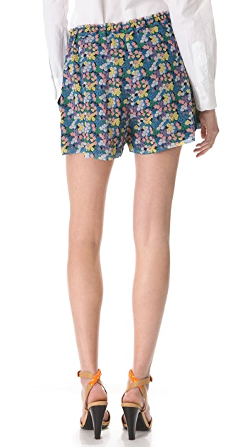 Band of Outsiders Mini Blossom Crinkle Shorts