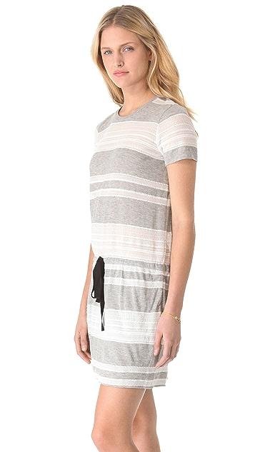 Band of Outsiders Lace T-Shirt Dress
