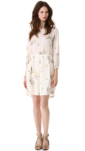 Band of Outsiders Long Sleeve Printed Dress