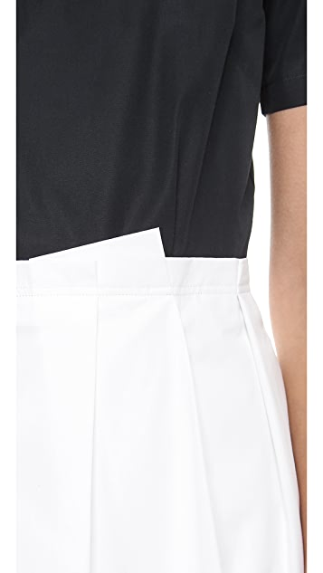 Band of Outsiders Short Sleeve Pleat Dress