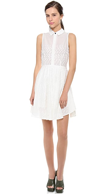 Band of Outsiders Sleeveless Eyelet Shirtdress