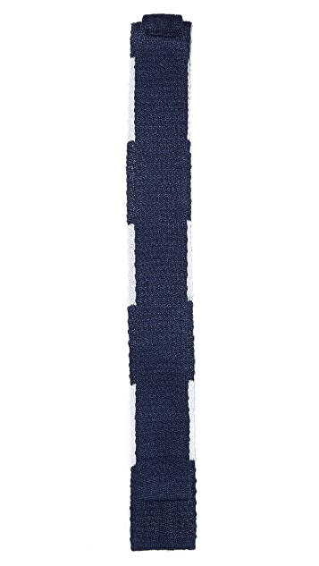 Band of Outsiders Big Bar Knit Tie