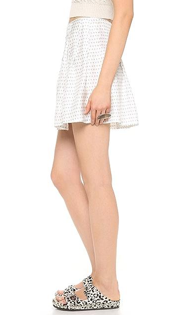 Band of Outsiders Bandana Print Pleated Skirt