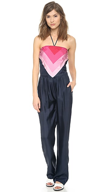 Band of Outsiders Scarf Print Convertible Jumpsuit