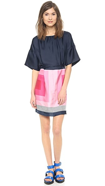 Band of Outsiders Scarf Print Easy Dress