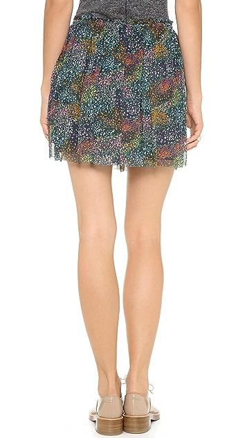 Band of Outsiders Flower Field Miniskirt