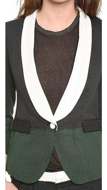 Band of Outsiders Double Gauze Colorblock Schoolboy Jacket