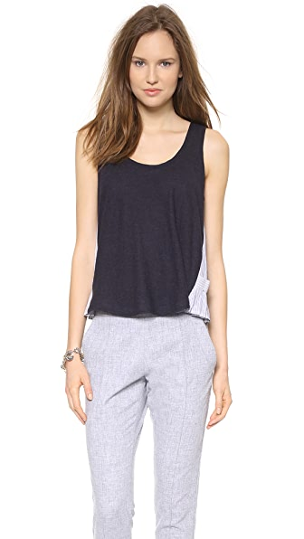 Band of Outsiders Tank with Contrast Gussets