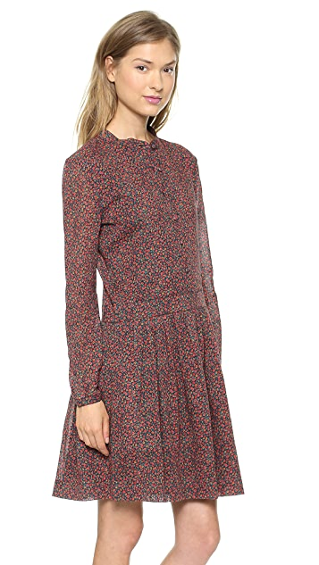 Band of Outsiders Mini Flower Shirtdress